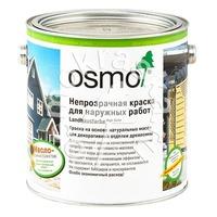 Непрозрачная стойкая краска для дерева для наружных работ OSMO Landhausfarbe