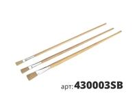 МАКО кисти штриховые 3 штуки в наборе, светлая натуральная щетина 430003SB